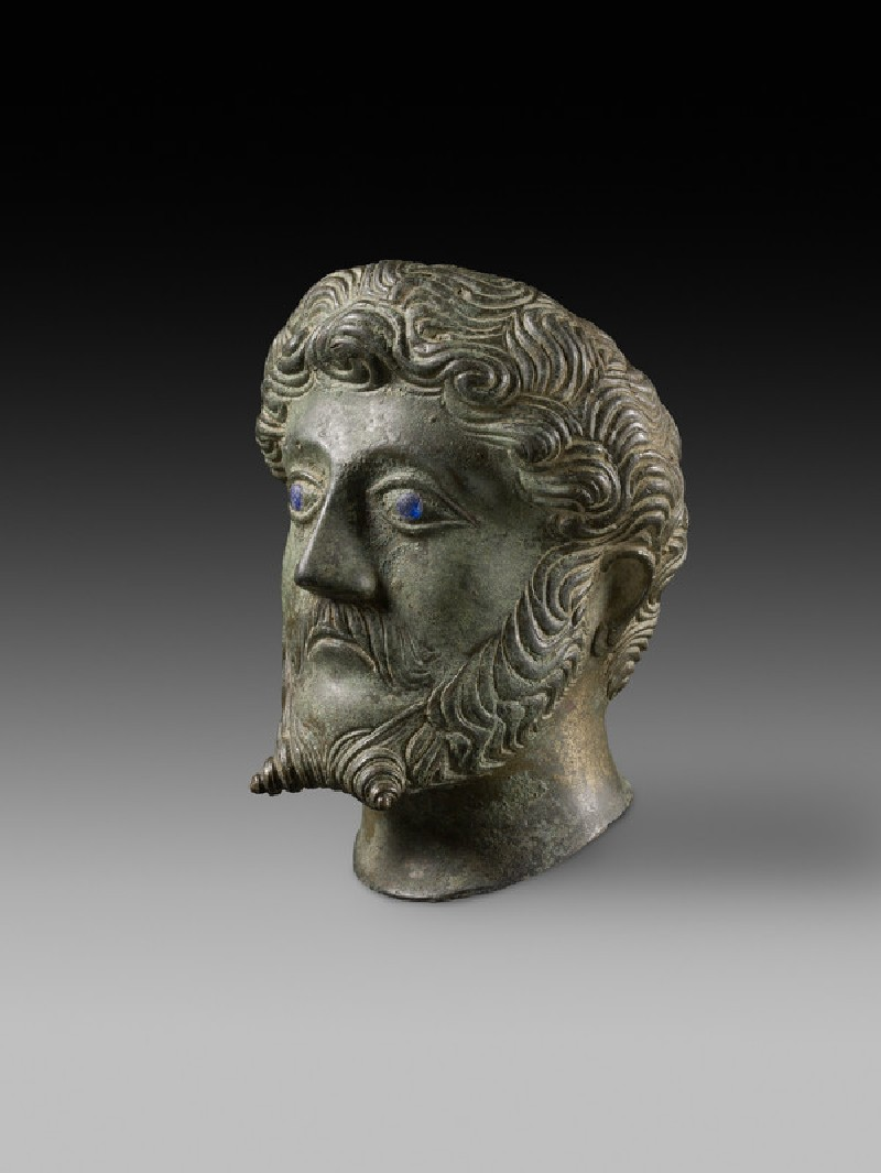 Head of male with inlaid eyes 'Marcus Aurelius' (AN2011.46)