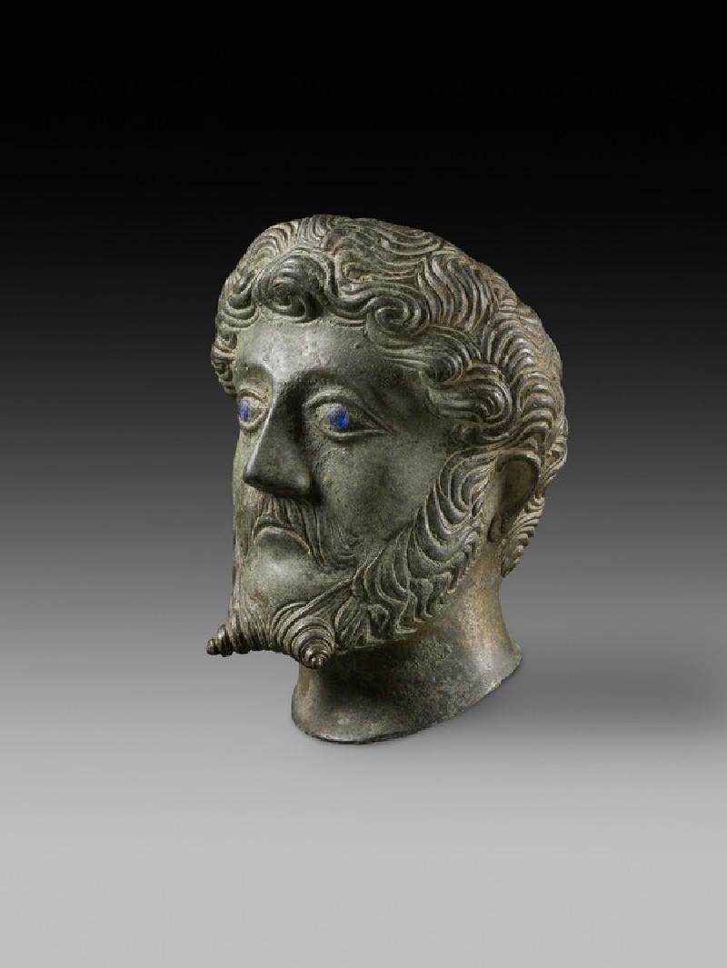Head of male with inlaid eyes 'Marcus Aurelius'