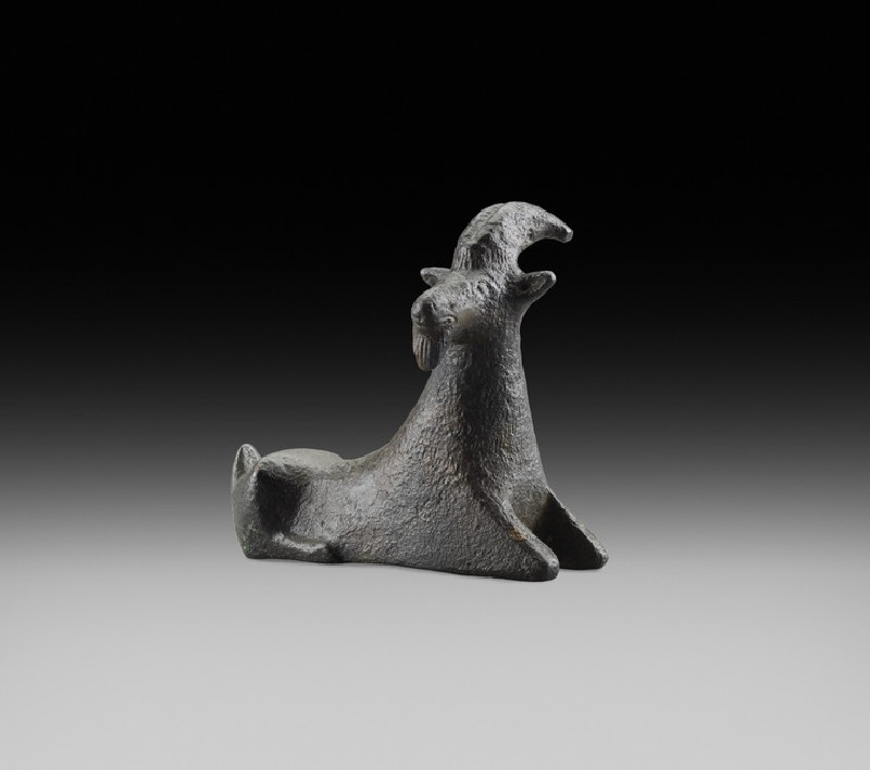 Greek Archaic bronze goat figurine (AN2015.6)