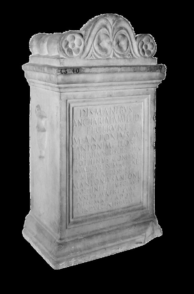 Epitaph with Latin inscription to Ancharia