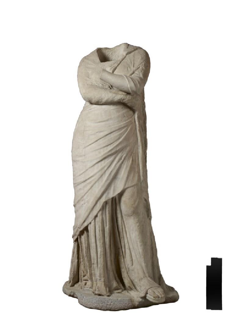 Statue of draped female