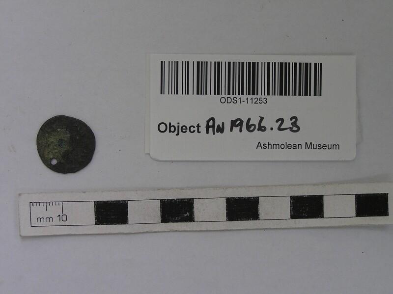 Roman bronze coin pierced for suspension