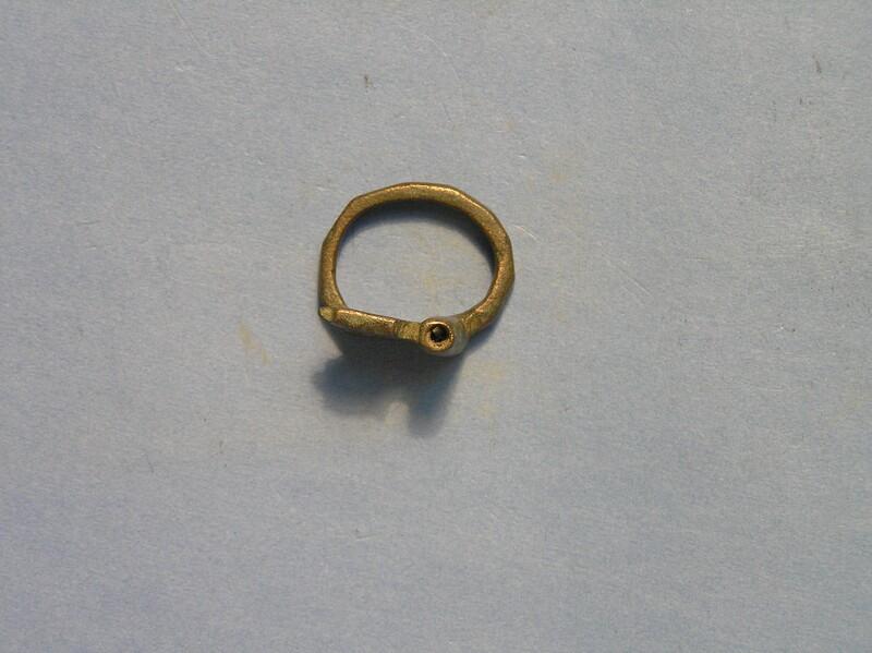 Key on finger ring