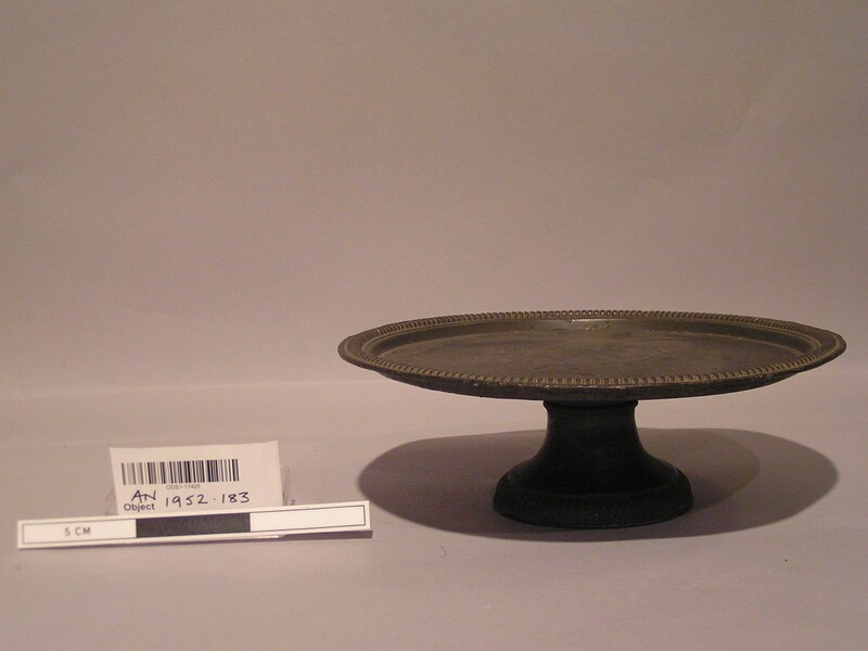 Pewter plate (AN1952.183, record shot)