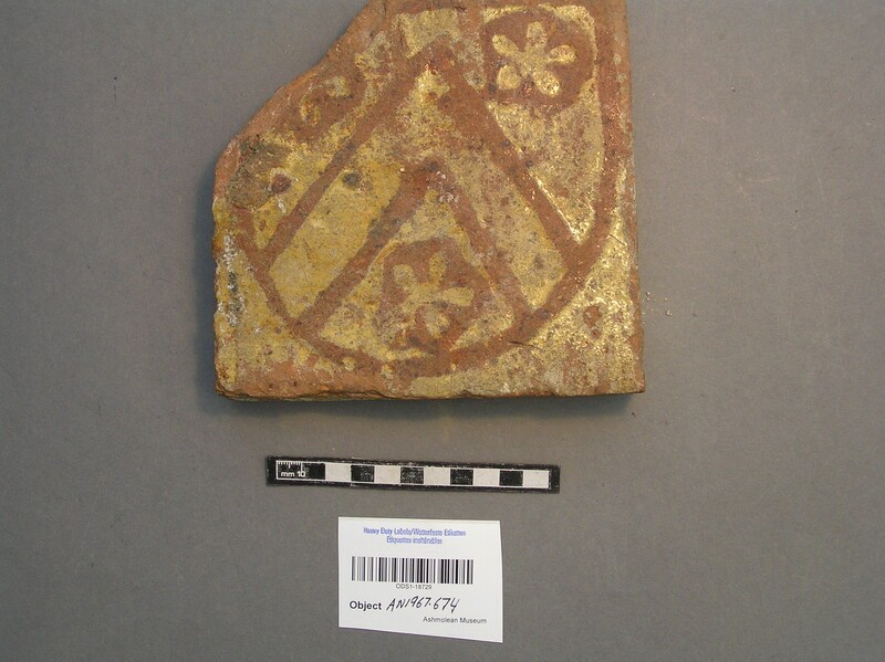 Floor tile with crest of All Souls College (AN1967.674, record shot)