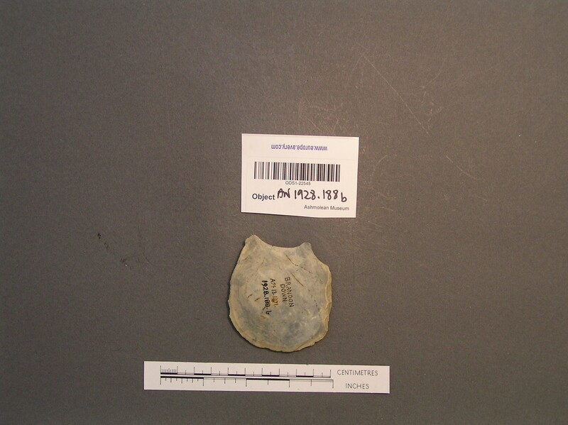 Potlid flake from cordate handaxe (AN1928.157.c) (AN1928.188.b, record shot)