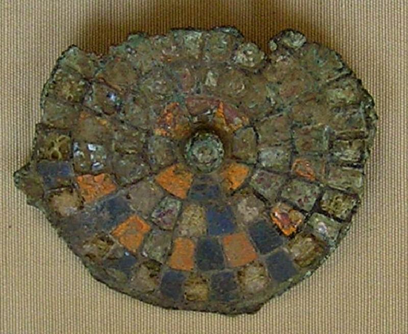 Bronze enamelled brooch