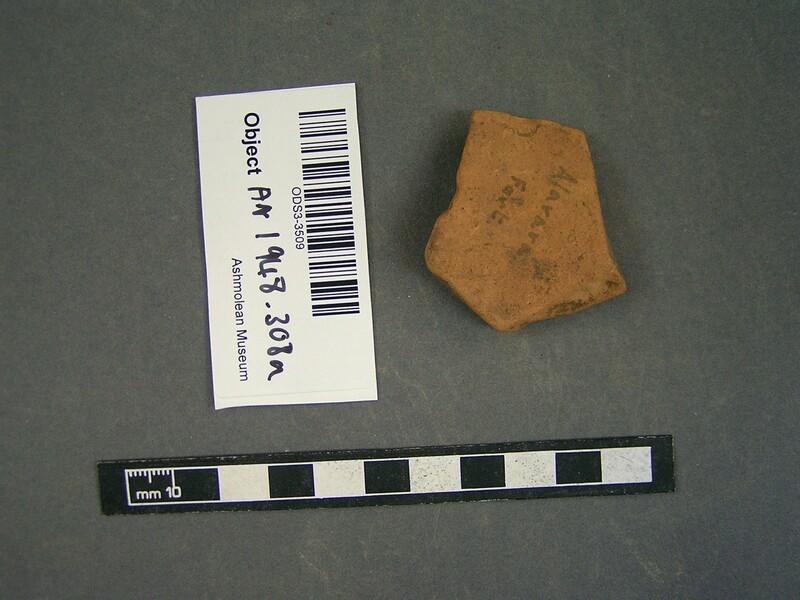 Terracotta sherd (AN1948.308.a, record shot)