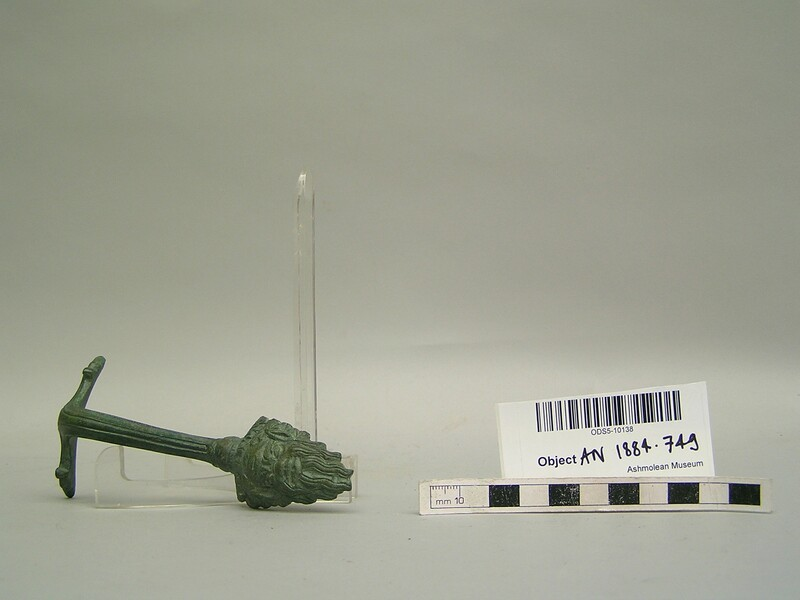 Bronze handle terminating in a satyr head (AN1884.749, record shot)
