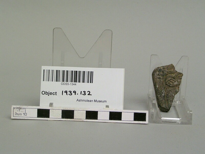 Fragment of Eye goddess amulet (AN1939.132, record shot)