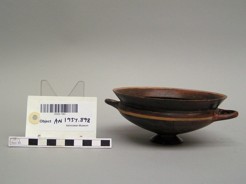 Ionian cup, black glazed, from several (AN1937.898, record shot)