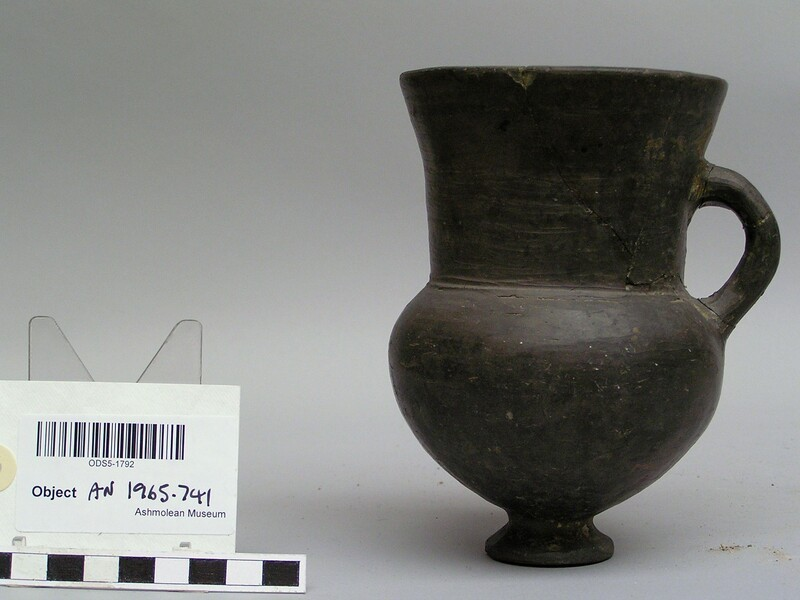 Grey burnished goblet of the 'Button base' pottery class (AN1965.741, record shot)