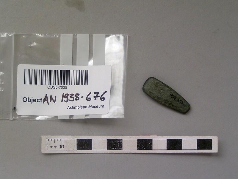 Stone axe or celt (AN1938.676, record shot)