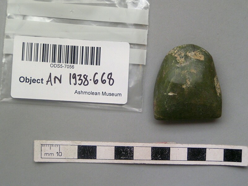 Stone axe or celt (AN1938.668, record shot)