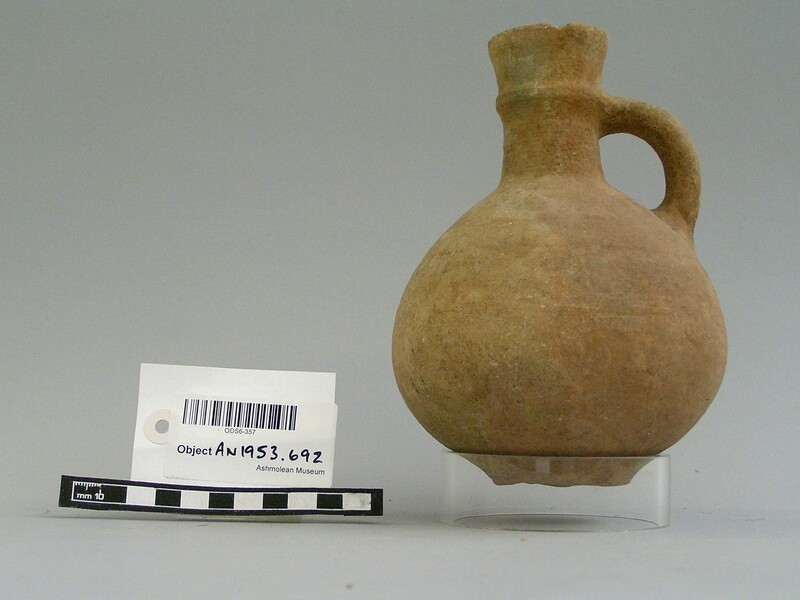 Whole baked clay jug (AN1953.692, record shot)