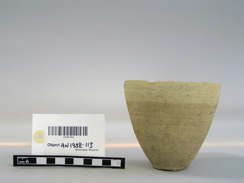 Baked clay vase (AN1938.113, record shot)
