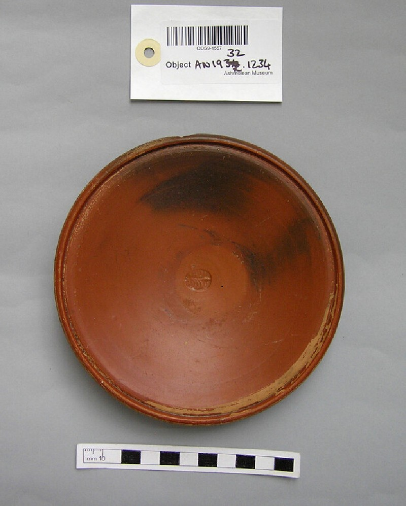 Red glaze dish (AN1932.1234, record shot)