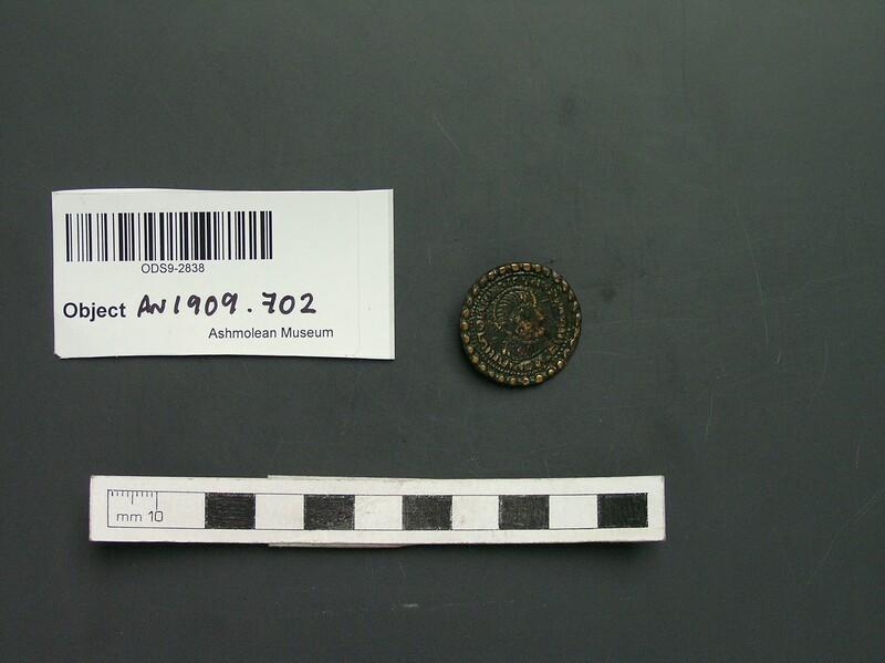 Brooch, imitation of Roman coin