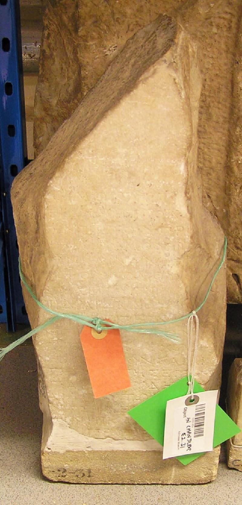 Fragment of Greek inscription, Samian decree honouring Metrodorus of Sidon (ANChandler.2.31, record shot)