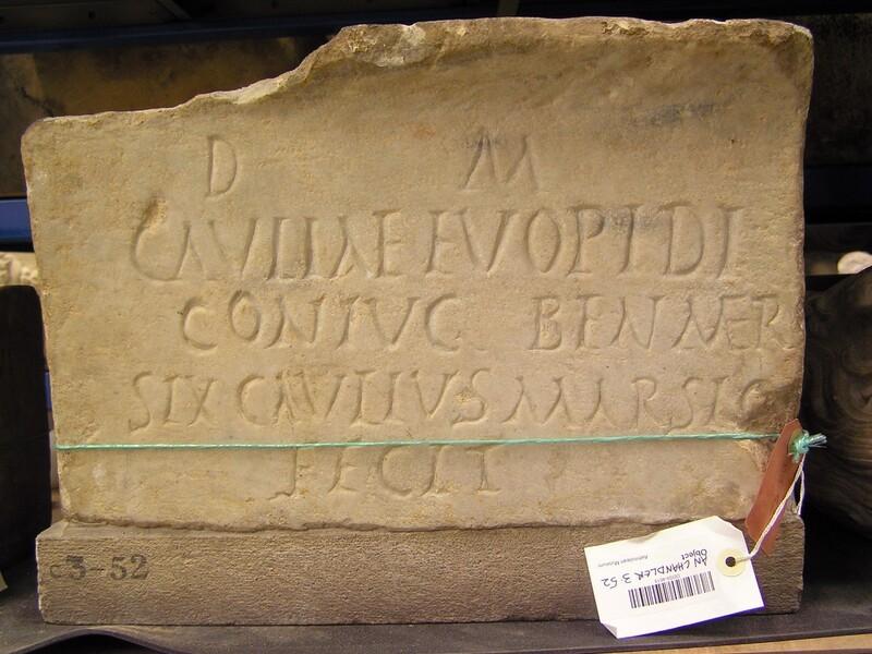 Funerary Latin inscription for CAULIA EUOPIDA