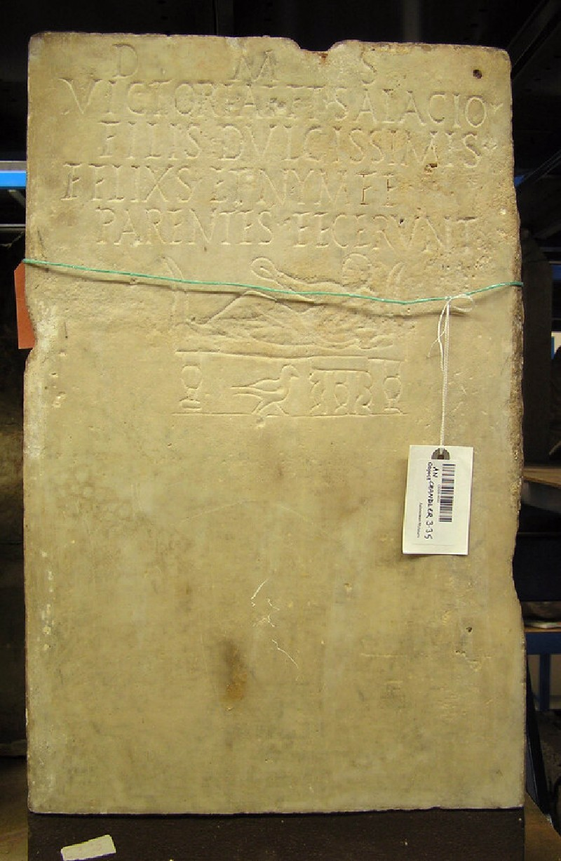 Stele with Latin inscription to Victoria and Salacius