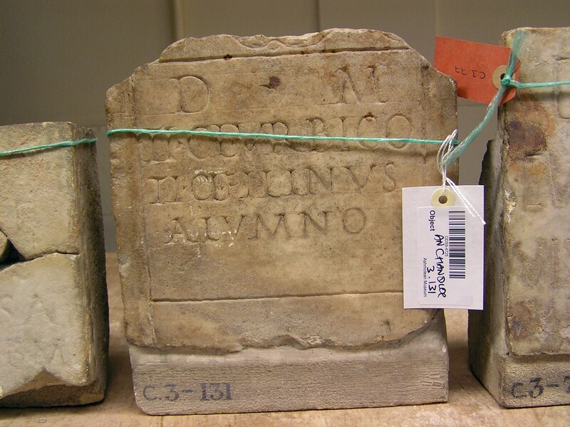 Funerary Latin inscription (ANChandler.3.131, record shot)