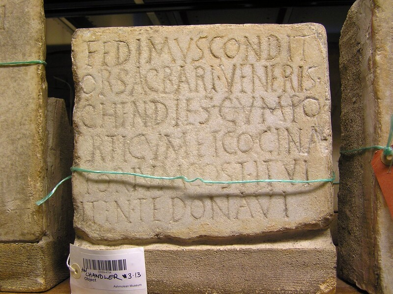 Fragment of Latin inscription to Fedimus (ANChandler.3.13, record shot)