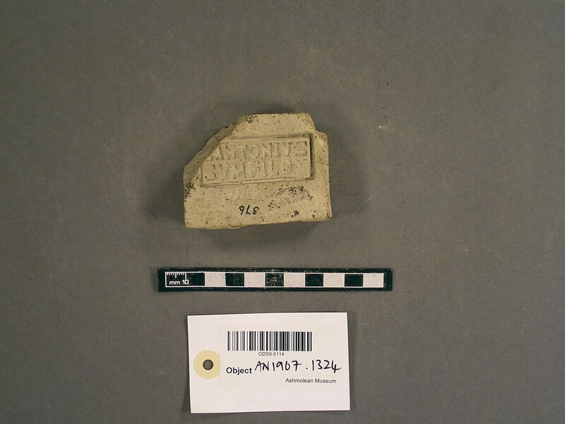 Brick stamped with Latin script (AN1967.1324, record shot)