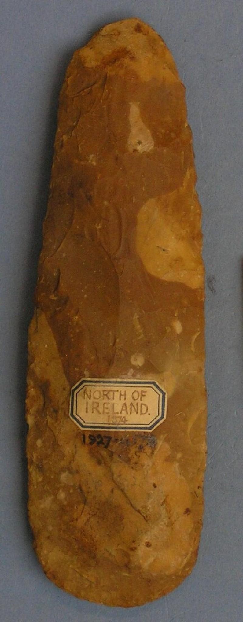 Polished flint axe