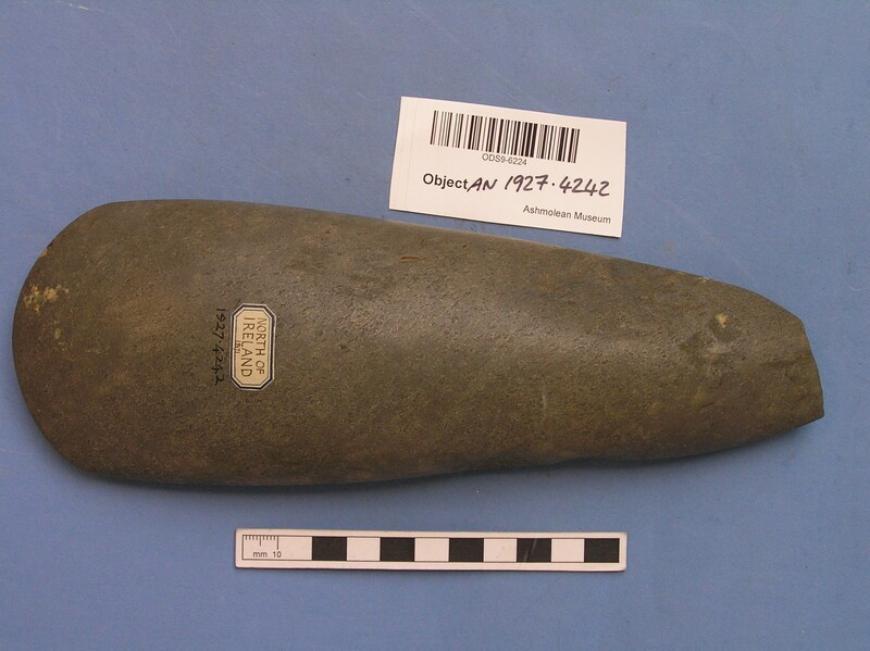 Polished stone axe (AN1927.4242, record shot)