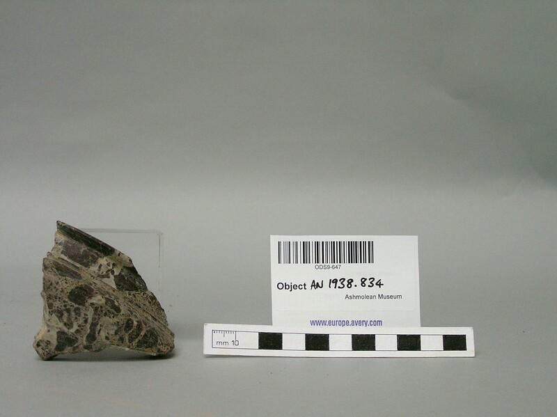Stone vase fragment (AN1938.834, record shot)