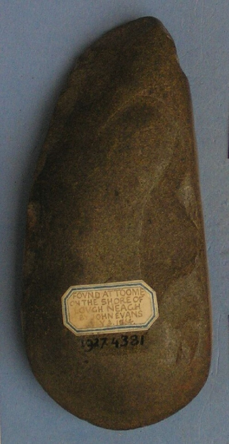 Polished stone axe (AN1927.4381, record shot)