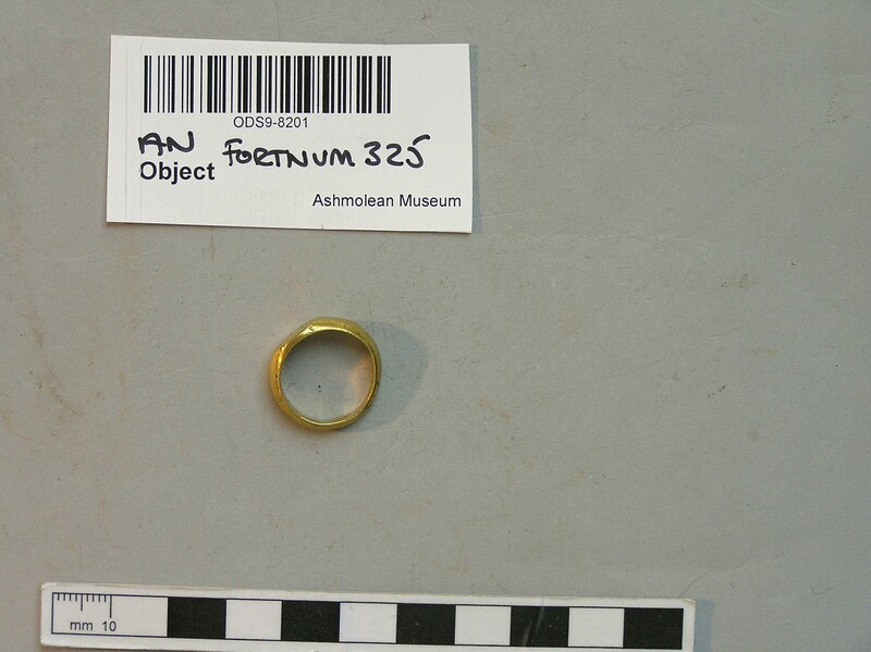 Finger-ring engraved with Greek monogram between two crosses