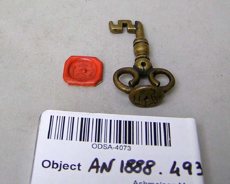 Seal in the shape of a key (AN1888.493, record shot)
