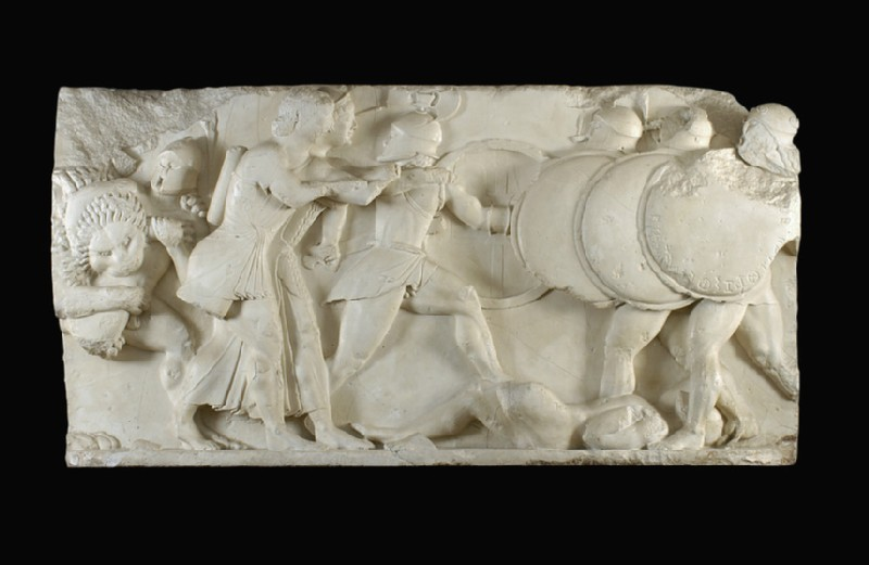 Cast of the north frieze from the Siphnian Treasury, Delphi