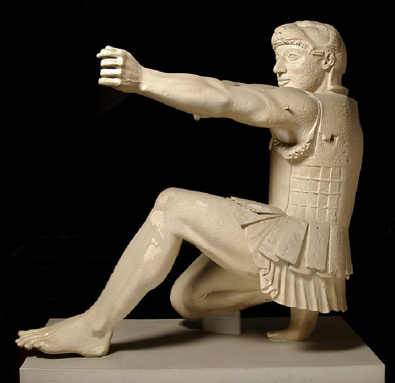 Cast of Herakles from the east pediment of the Temple of Aphaia, Aigina