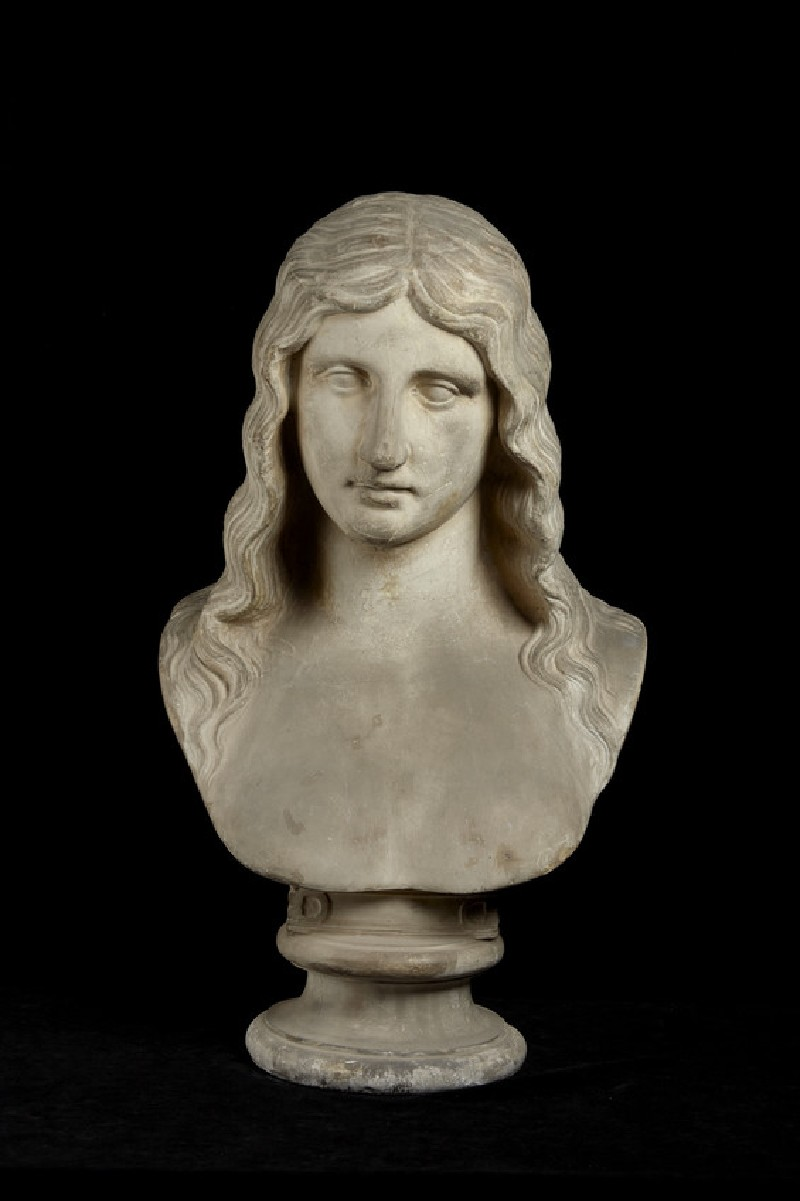Cast of a bust of a woman, possibly a barbarian