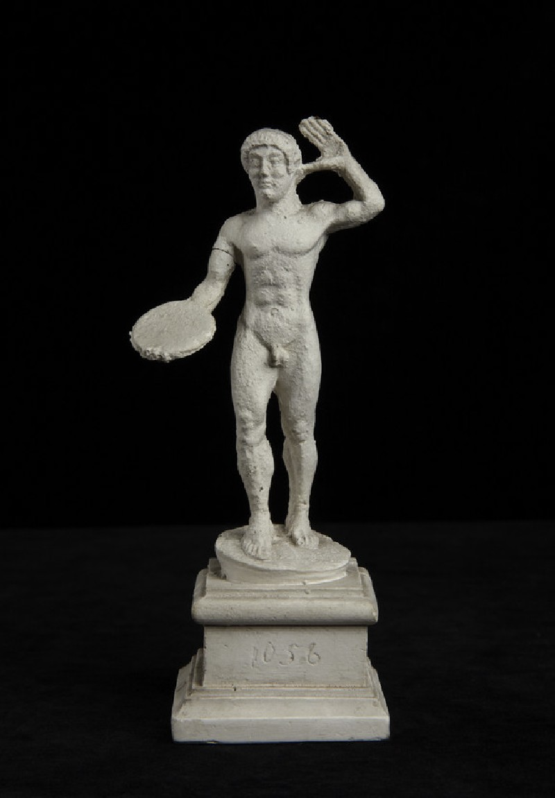 Cast of a statuette of a discus thrower