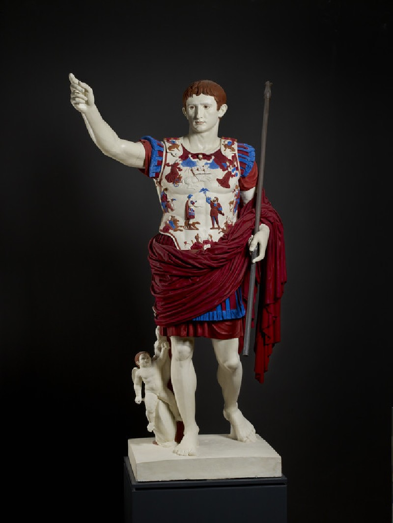 Painted cast of the Augustus of Prima Porta