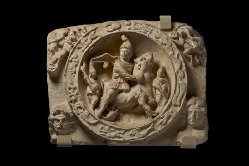 Cast of the Mithras Tauroctonos relief from London (CG.H.22)