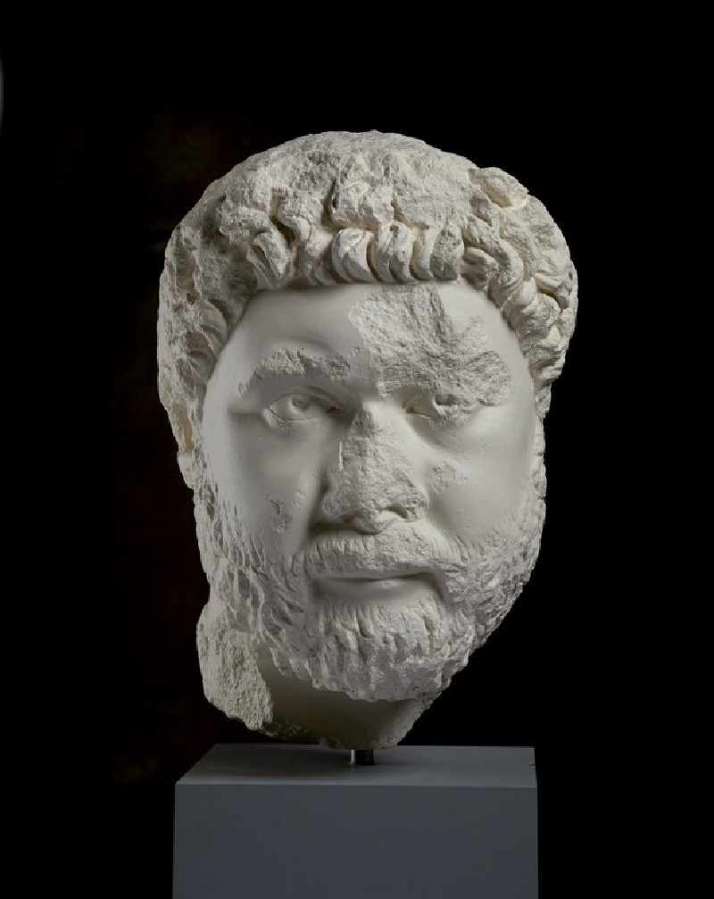 Cast of the head from a portrait statue of Oecumenius, from Aphrodisias