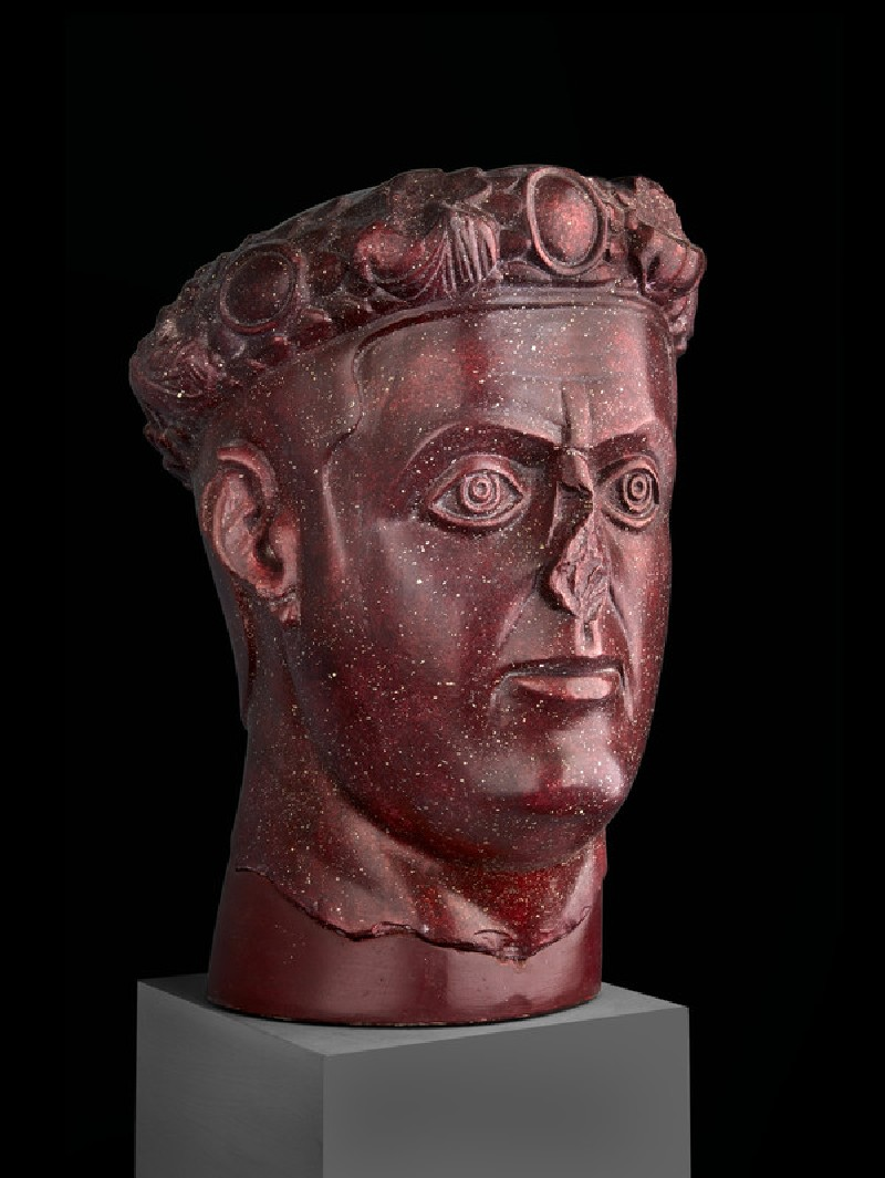 Cast of the head of a Tetrarch, probably Galerius, from Gamzigrad (CG.H.71)