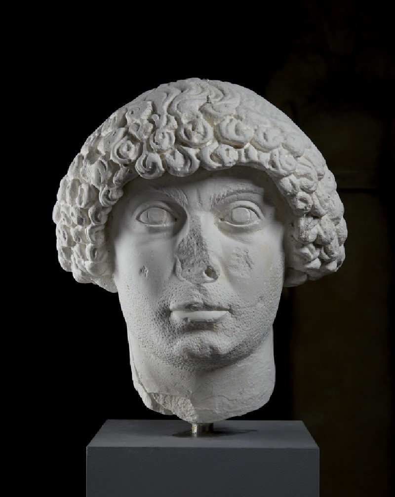 Cast of the head of man with Constantinopolitan hairstyle, from Aphrodisias (CG.H.74)
