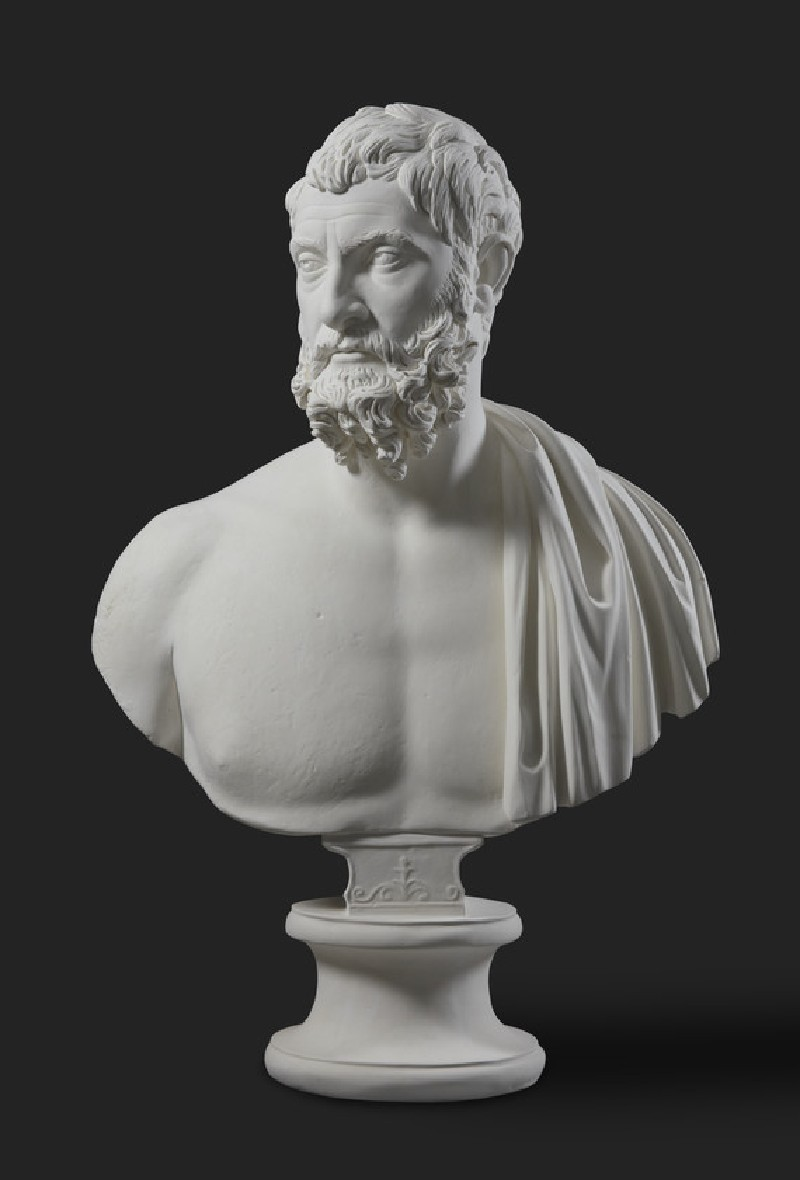 Cast of the bust of a bearded man, from Smyrna