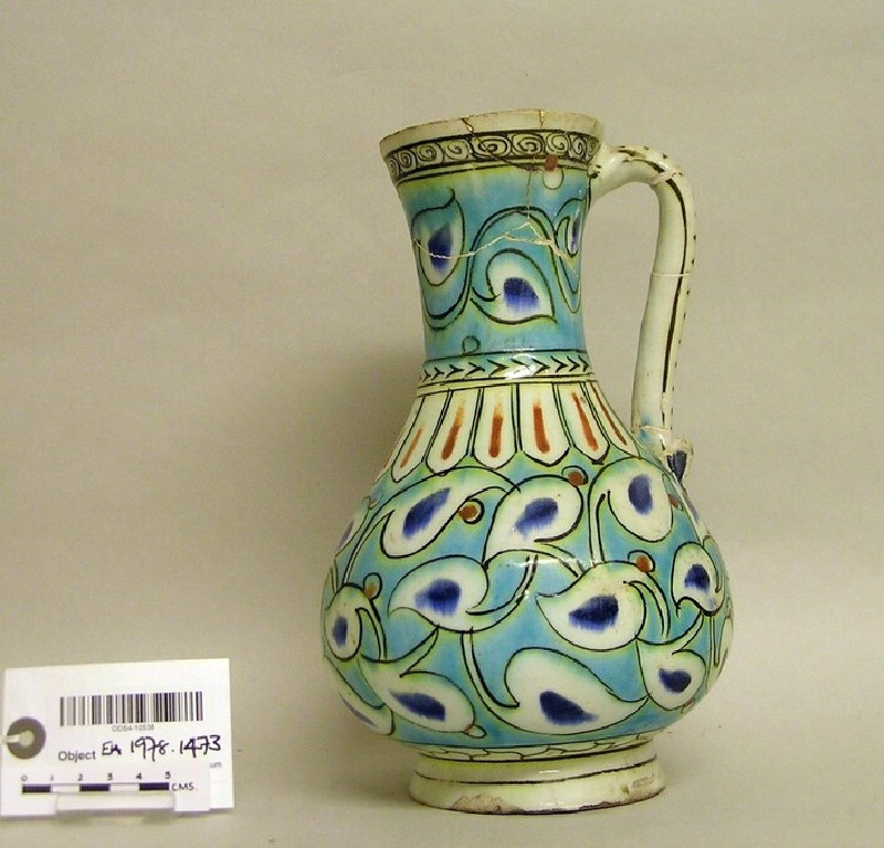 Jug with scrolling leaves