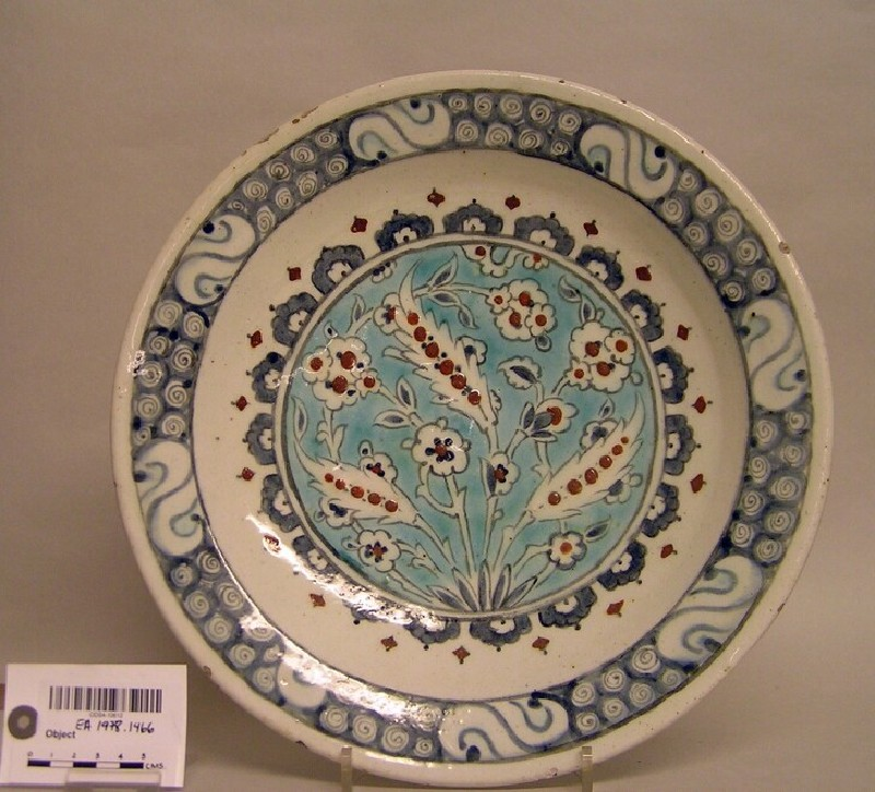 Dish with floral sprays