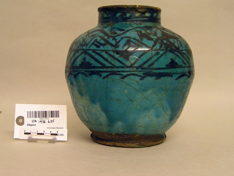 Jar with abstract frieze