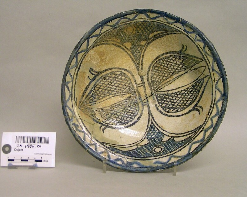 Bowl with buds and cross-hatched decoration (EA1956.81, record shot)