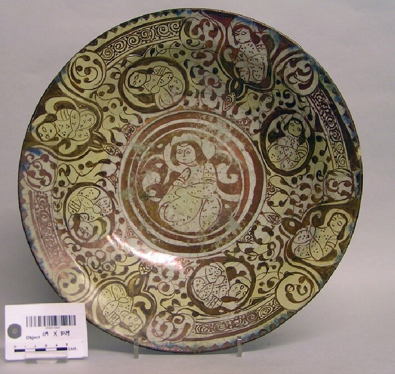 Dish with seated figures (EAX.3029, record shot)