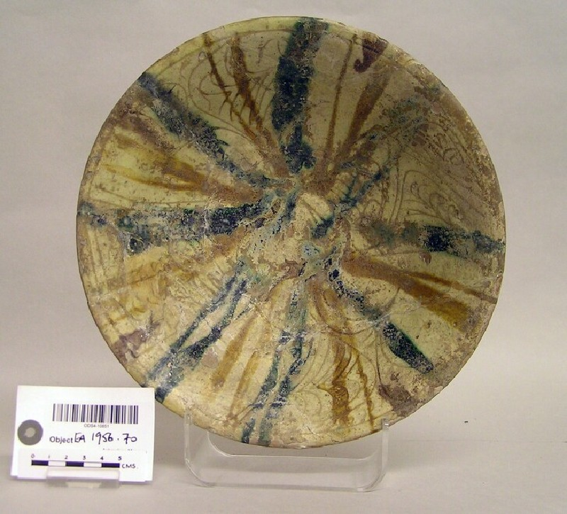 Bowl with incised and splashed decoration